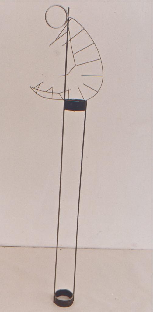 Scultura di Adriana Amodei - Der Meditierende, Omaggio a Fausto Melotti - 1984 170x50