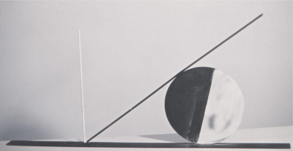 Scultura di Adriana Amodei - Tao in Nero 1992, ferro lacca