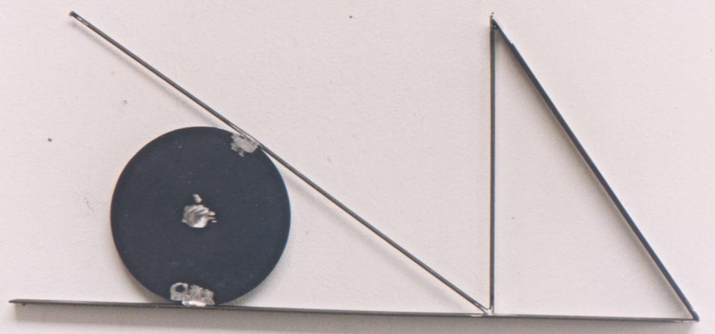 Scultura di Adriana Amodei - Tao in Nero 1992 II, ferro lacca